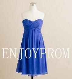 Sheath/Column Strapless Chiffon knee-Length Bridesmaid/Evening/Prom Dress$78.00