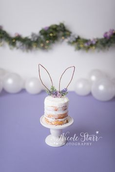 Purple spring Some Bunny is One cake smash with boho flair by Nicole Starr Photography Bunny Birthday Cake, Baby First Birthday Cake, 1st Birthday Party For Girls, Birthday Cake Smash, First Birthday Photos, Birthday Ideas, Birthday Parties, Boho Cake, First Birthday Photography