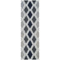 Rizzy Home Country Collection Multicolored Trellis Runner Rug