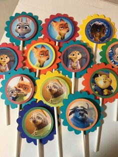 Assorted Zootopia Character Cupcake Toppers by PartysandMore Halloween Birthday, 2nd Birthday Parties, Birthday Fun, Birthday Ideas, Character Cupcakes, Frederique, Party Gifts, Party Ideas, Theme Ideas