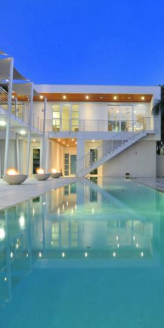 Exterior .. Modern pool area