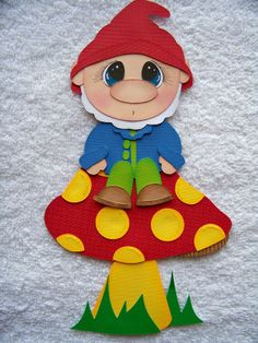 Hand Crafts For Kids, Wood Crafts, Paper Crafts, Paper Magic, School Decorations, Digital Stamps, Paper Piecing, Gnomes, Origami