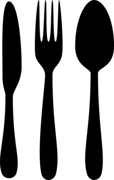 free spoon knife and fork vectors for your kitchen designs rh pinterest com plate spoon and fork clipart plate spoon and fork clipart