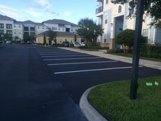 Recent #LineStriping job by the ABC Paving & Sealcoating Team! #LineStriping #Asphalt #ParkingLot Maintenance #ABCPaveandSeal