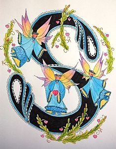 FLOWERS AND LETTERS FOR DECOUPAGE Alphabet Letters Design, Alphabet And Numbers, Free Machine Embroidery Designs, Scrapbooking, Unexpected Friendship, Lettering Design, Vintage, Fairies, Illustration