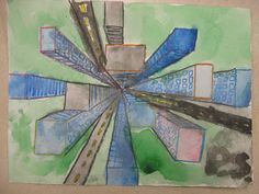 Miss Young's Art Room: Perspective with 6th Grade.