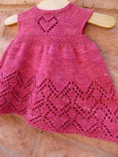 Helen Joyce Dress - KNIT - beginner - pay for pattern - newborn to 4T