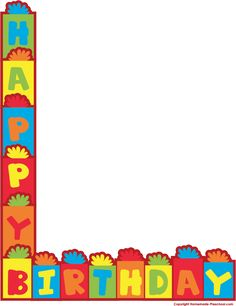 happy birthday border clip art free birthday pinterest