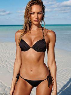 Candice Swanepoel for Victoria's Secret Swim Catalog 2015. #vsswim #swimwear
