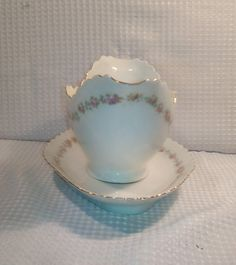 Antique Gravy Boat Sauce Server with under plate by 5of6sisters