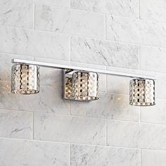 "Possini Euro Design Mirage 23"" Wide Chrome Bathroom Light"