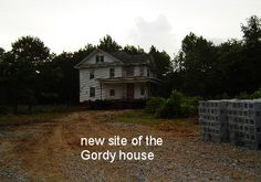 New site of Mr Gordys house
