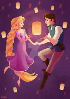 Rapunzel and Flynn Rider Disney Rapunzel, Film Disney, Punk Disney, Tangled Rapunzel, Disney Nerd, Best Disney Movies, Disney Couples, Disney Magic, Flynn Rider And Rapunzel