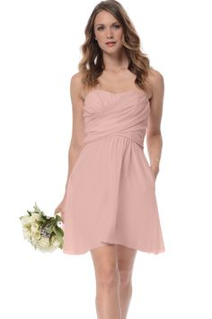 Shop Dove & Dahlia Bridesmaid Dress - Lily in Poly Chiffon at Weddington Way. Find the perfect made-to-order bridesmaid dresses for your bridal party in your favorite color, style and fabric at Weddington Way.
