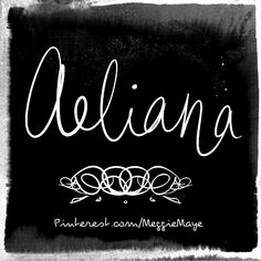 """Baby girl's name Aeliana. From the Ancient Roman name Aelius, which meant """"sun"""" (from helios)."""