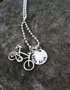Bike Iowa Necklace