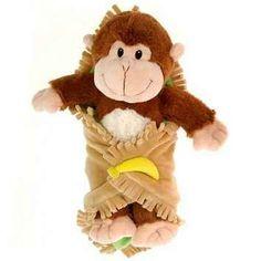 Boy Monkey Blanket BabyPersonalized Monogrammed by GrandmaBessies