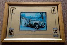 VINTAGE RETRO 1970s ROLLS ROYCE SILVER GHOST 1911 PICTURE WALL MIRROR COLLECTOR | eBay