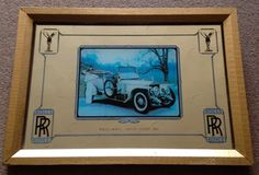 VINTAGE RETRO 1970s ROLLS ROYCE SILVER GHOST 1911 PICTURE WALL MIRROR COLLECTOR | eBay