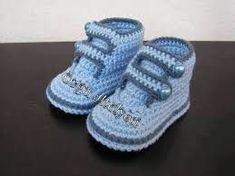 Resultado de imagen para escarpines tejidos a crochet para varon