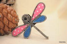 Libélula de fieltro regalo Pin broche broche mujer por GalleeValley