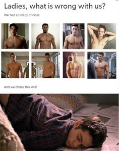Ladys, what is wrong with us? We had so many choices and we chose this one! #stiles