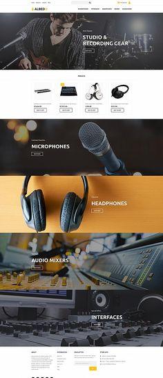 Albedo - Audio Shop MotoCMS Ecommerce Template
