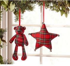 Christmas on Tartan Road Tartan Christmas, Country Christmas, Christmas Colors, All Things Christmas, Handmade Christmas, Christmas Tree Ornaments, Christmas Holidays, Ornament Tree, Tartan Crafts