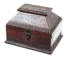 Exotic Spice & Tea Shop Wooden Box with Hinged Lid - Current price: $325