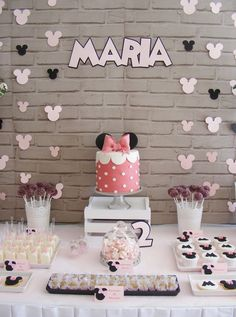 Dessert Table from a Minnie Mouse Birthday Party via Kara's Party Ideas | KarasPartyIdeas.com (2)
