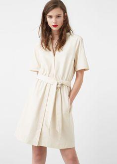 Stitched detail dress -  Woman | MANGO Denmark