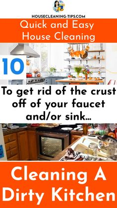 The kitchen is often a gathering place for family and friends but with a few quick and easy cleaning tips, you can rid yourself of a dirty kitchen. #dirtykitchen
