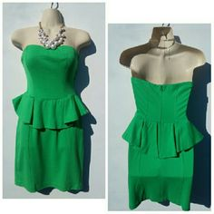 TODAY ONLY! ANTHROPOLOGIE GREEN PELHUM DRESS Yoana Baraschi for ANTHROPOLOGIE Green Pelhum Dress SZ 6 Brand new  Check Yoana Baraschi size chart Anthropologie Dresses Midi
