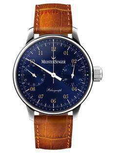 MeisterSinger | Paleograph blau | Edelstahl | Uhren-Datenbank watchtime.net