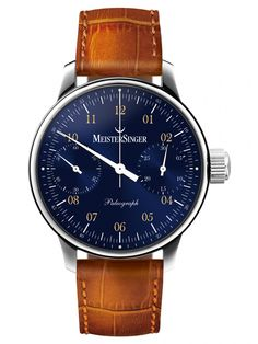 MeisterSinger   Paleograph blau   Edelstahl   Uhren-Datenbank watchtime.net