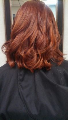 Color!!! Copper Red Hair with golden highlights. Hair done by Danielle at Lussuria Salon.: