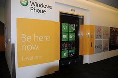 The elevator at Studio F, one of the lairs of the Windows Phone Team on the Microsoft Redmond campus.