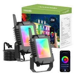 Novostella BLink Smart Flood Light 25W Google Home Assistant, Smart Lights, Life App, Led Flood Lights, Luminous Flux, One Light, As You Like, Wifi