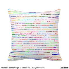 Julianne Text Design II Throw Pillow
