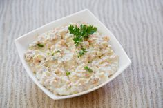 Sałatka jarzynowa przepis Risotto, Ethnic Recipes, Food, Kitchen, Turkey Cutlets, Raisin, Queso Blanco, Earthy, Salads