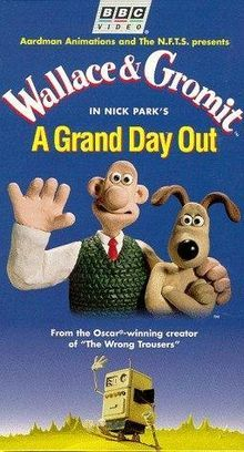 Wallace and Gromit in A Grand Day Out.