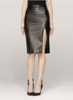 Vintage Chanel Juliet Leather Skirt | All Things Leather ...