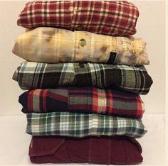 Vintage Oversize Flannel Shirt Distressed von CaseysMagnolia
