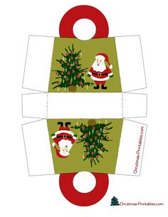 """DIY mini Christmas packages """"Cute free printable gift bags that you can use to give small gift items to your friends and family on Christmas."""""""