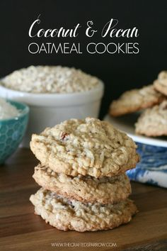 These Coconut & Pecan Oatmeal Cookies are so good, you can't eat just one. They are sure to become a family favorite recipe.