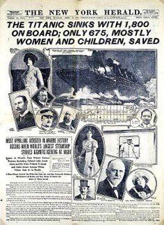 The New York Herald tells of the Titanic disaster