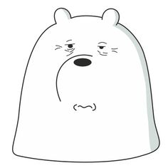 Набор стикеров для Telegram «Белый медведь» We Are Bears, We Bear, Green Day, Doodles, Snoopy, Beer, Kawaii, Cartoon, Cute