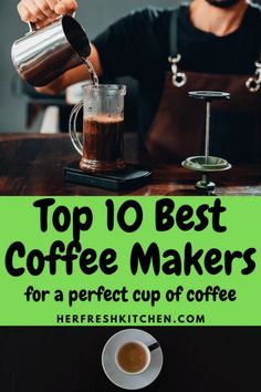 Need a perfect cup of coffee every morning? Here's the top 10 coffee makers in the market today! Pour Over Coffee Maker, Coffee And Espresso Maker, Pod Coffee Makers, Best Coffee Maker, French Press Coffee Maker, Coffee Type, Great Coffee, Oven Top, Aeropress Coffee