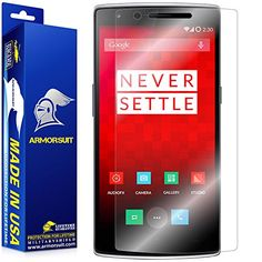 awesome ArmorSuit MilitaryShield – OnePlus One Screen Protector Anti-Bubble Ultra HD – Extreme Clarity & Touch Responsive Shield with Lifetime Free Replacements – Retail Packaging