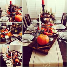 Thanksgiving table scape..